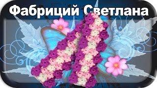 ☆Шарф с цветочным узором, вязание крючком для начинающих, crochet.