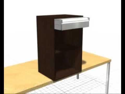 Persiana mueble cocina ALUMINIO armario kit completo box