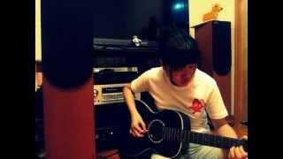 盧廣仲 - 只有夜來香 (伴彈 guitar cover with background music)