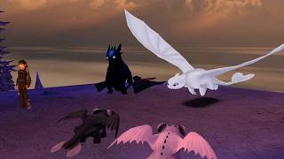 All scenes/memories of Niġht Lights from Snoggletog quests #SchoolofDragons