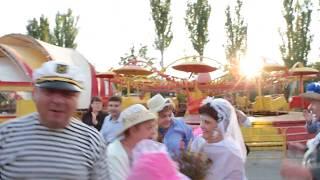 Катание родителей на тачке второй день свадьбы
