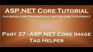 ASP NET Core Image tag helper