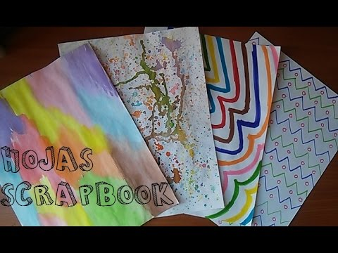 Diy hojas decoradas scrapbook facil youtube for Decorar paginas