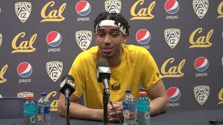 Cal Men's Basketball: Justice Sueing Press Conference (2/16/19)