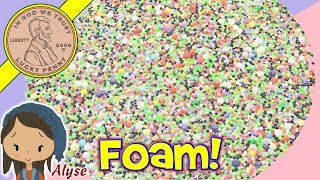 Giant Lime Green Foam Balls Slime Play & Time Lapse