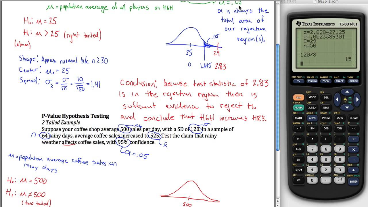 P-Value Z Hypothesis Testing - YouTube
