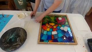 Easy Faux Stained Glass