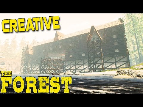 The Forest Creative Mode - HUGE BEACH MANSION BASE? - Update 0.57 Creative Gameplay