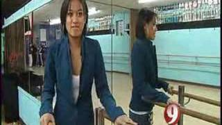 Karla Garcia-Hot Feet Channel 9 Segment