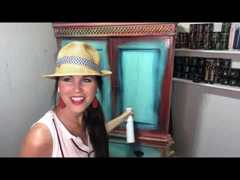 Flea Market Flip Wardrobe with DIY Paint - Cotton Candy Furniture Makeover Part 5