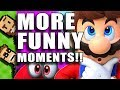Super Mario Odyssey FUNNY MOMENTS|montage fails glitches outtakes|some funny stuff happens|Basement
