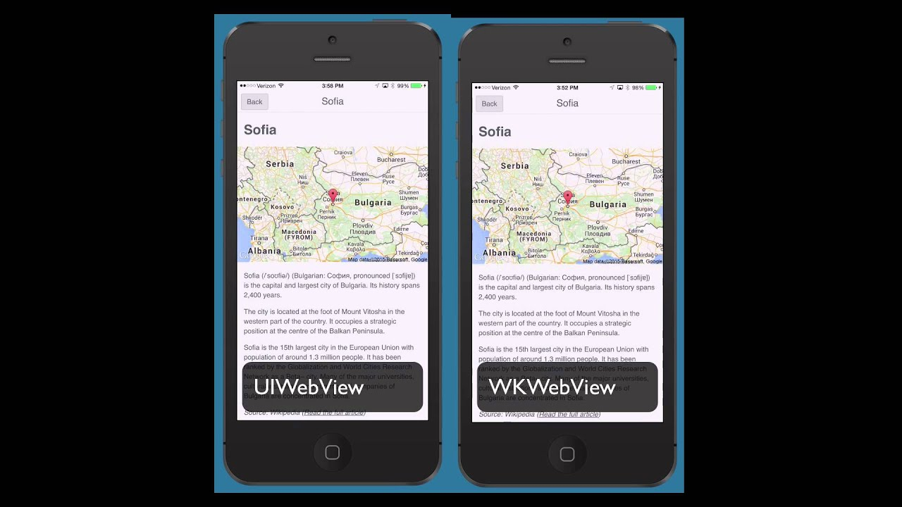 WKWebView Difference