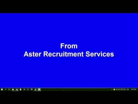 email from Aster Recruitment Services [ fraud job Recruitment ]