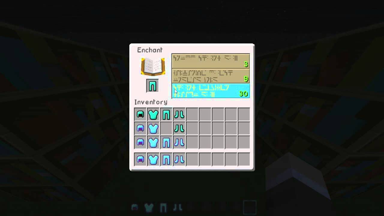 MineCraft  Tips  Enchanting  Getting Protection 8 Unbreaking 8