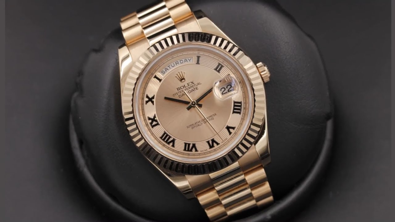 330a40c43f0 Rolex Day-Date II 218235 Pink Concentric Roman Dial 41 mm Everose gold | by  OcWatchGuy
