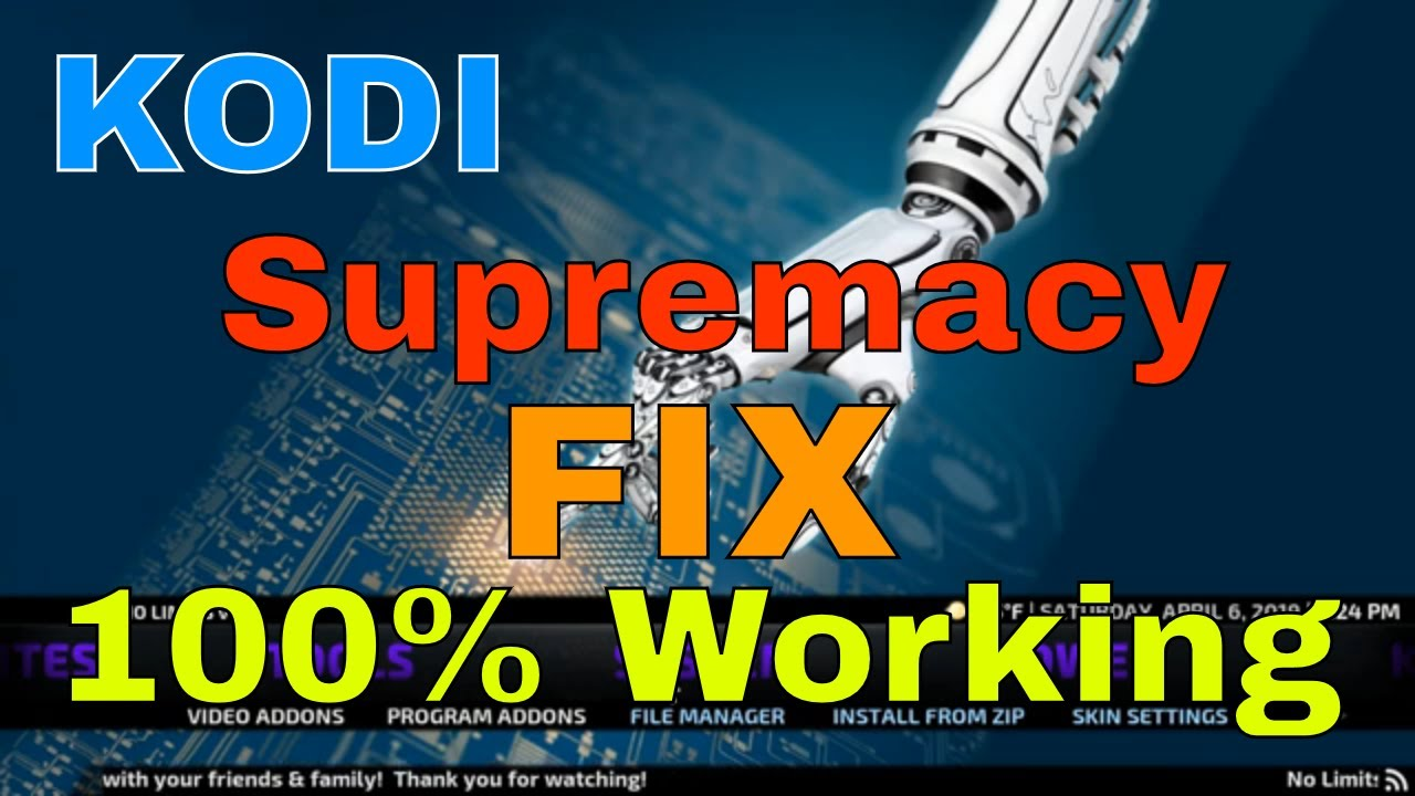 KODI SUPREMACY ADDON FIX 100% WORKING IN APRIL 2019