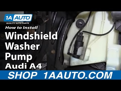 How to Replace Windshield Washer Pump 98-10 Audi A4