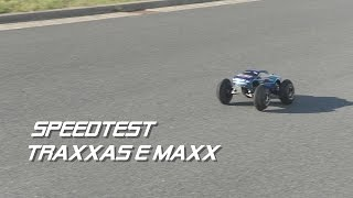 traxxas e maxx mamba x speedtest 4s 6s full hd