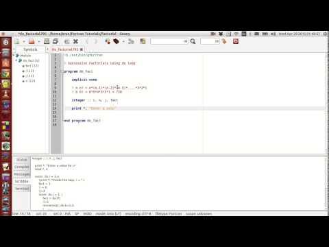 Fortran Programming Tutorials (Revised) : 018 : Successive Factorial + Do loop