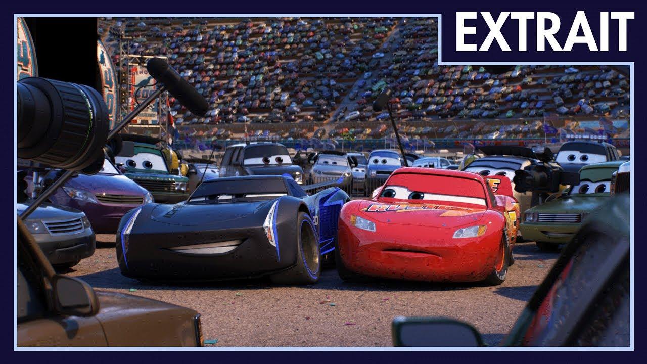 Cars 3 - Extrait : Flash McQueen rencontre Jackson Storm - YouTube