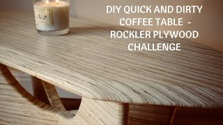DIY quick and dirty coffee table with simple tools - Rockler plywood challenge BC05