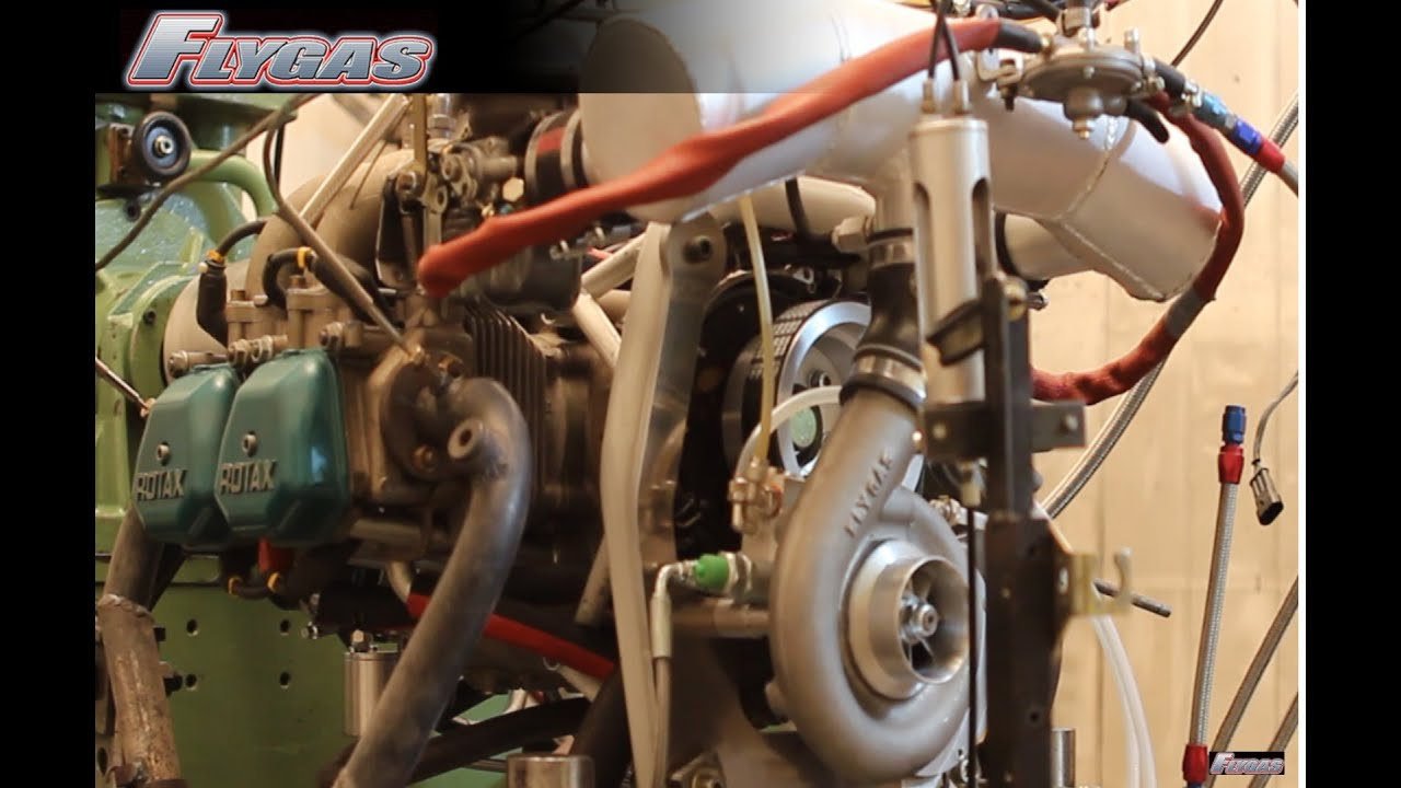 Rotax 912 SuperCharged on test bench