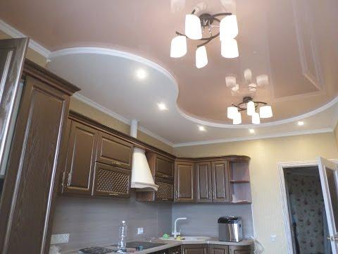 подвесной потолок из гипсокартона для кухни фото своими руками