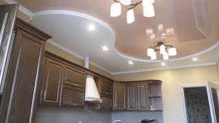 КОМБИНИРОВАННЫЙ потолок на КУХНЕ, НАТЯЖНОЙ потолок на кухне #ДизайнПотолкаНаКухне