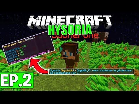 MINION ET GÉNÉRATEUR DE COBBLE | Minecraft Skyblock - Hysoria | Ep# 2