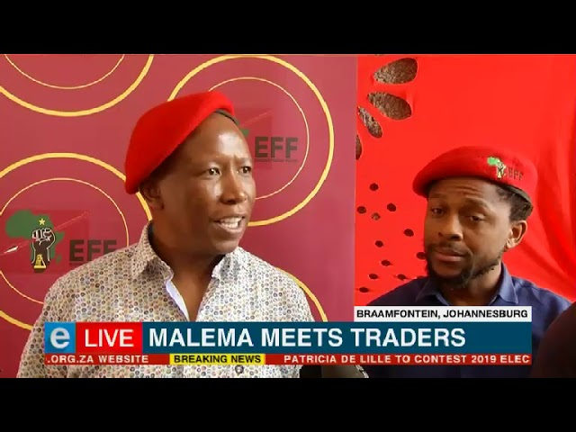Malema meets traders