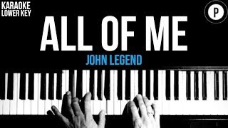 Download lagu John Legend - All Of Me Karaoke SLOWER Acoustic Piano Instrumental Cover Lyrics LOWER KEY