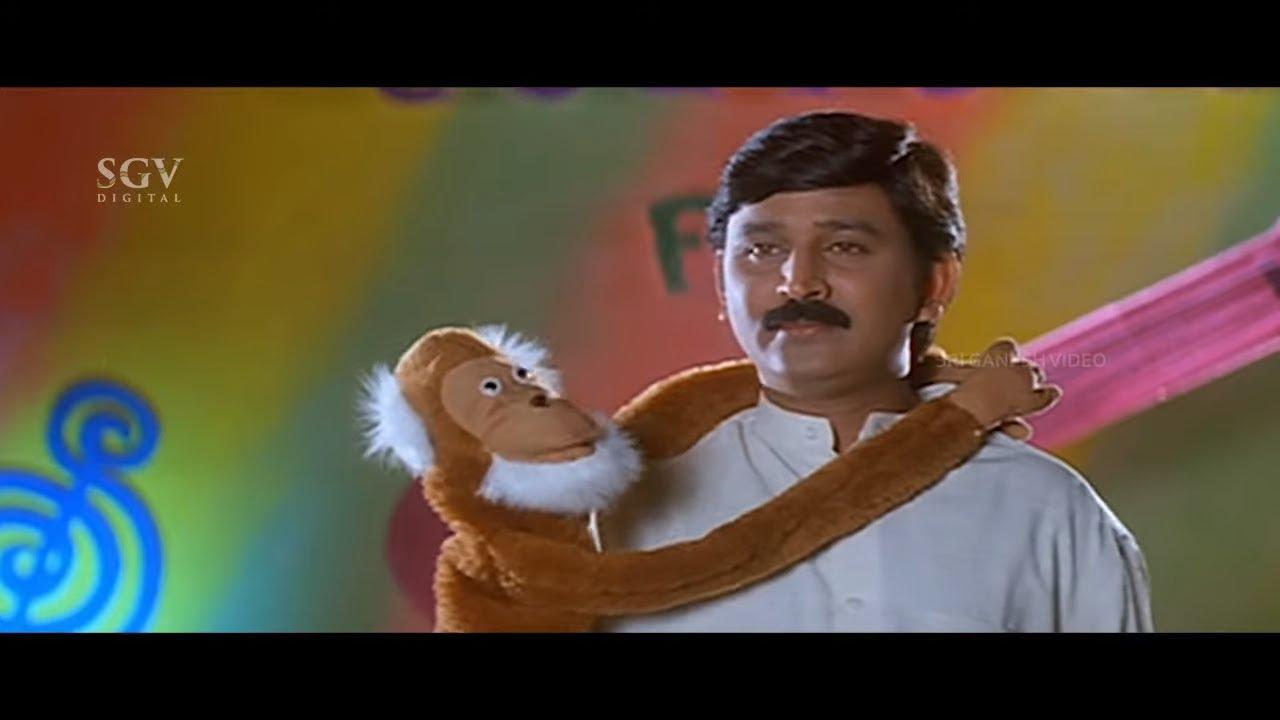 Ramesh and Sharan Host Comedy Show | Kannada Comedy Scenes | Kushalave Kshemave Kannada Movie