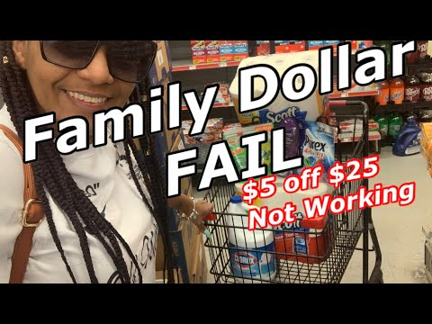 Family Dollar FAIL TODAY!!! $5 Off $25 Not Working