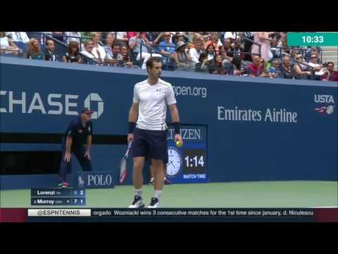 Paolo Lorenzi vs Andy Murray- 2do set Us Open 2016