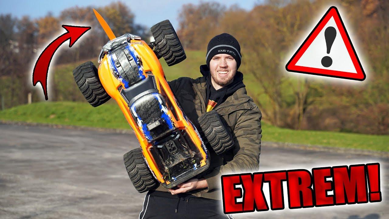 1000€ RC AUTO mit 2 MESSER TUNEN! - Gefährlichster XMAXX der WELT 😱 | Highspeed Crash gegen Melone!