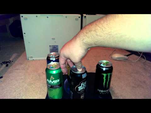 Energy Drink Taste Comparison: green Monster vs green AMP vs yellow Rockstar vs NOS vs Full Throttle