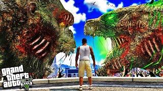 ZOMBIE GODZILLA vs ZOMBIE KING KONG in GTA 5 (Mods)