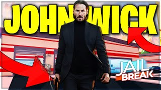 PLAYING AS JOHN WICK IN JAILBREAK ROBLOX (ROBLOX)