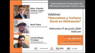 Webinar Naturaleza y Turismo Rural en Michoacán