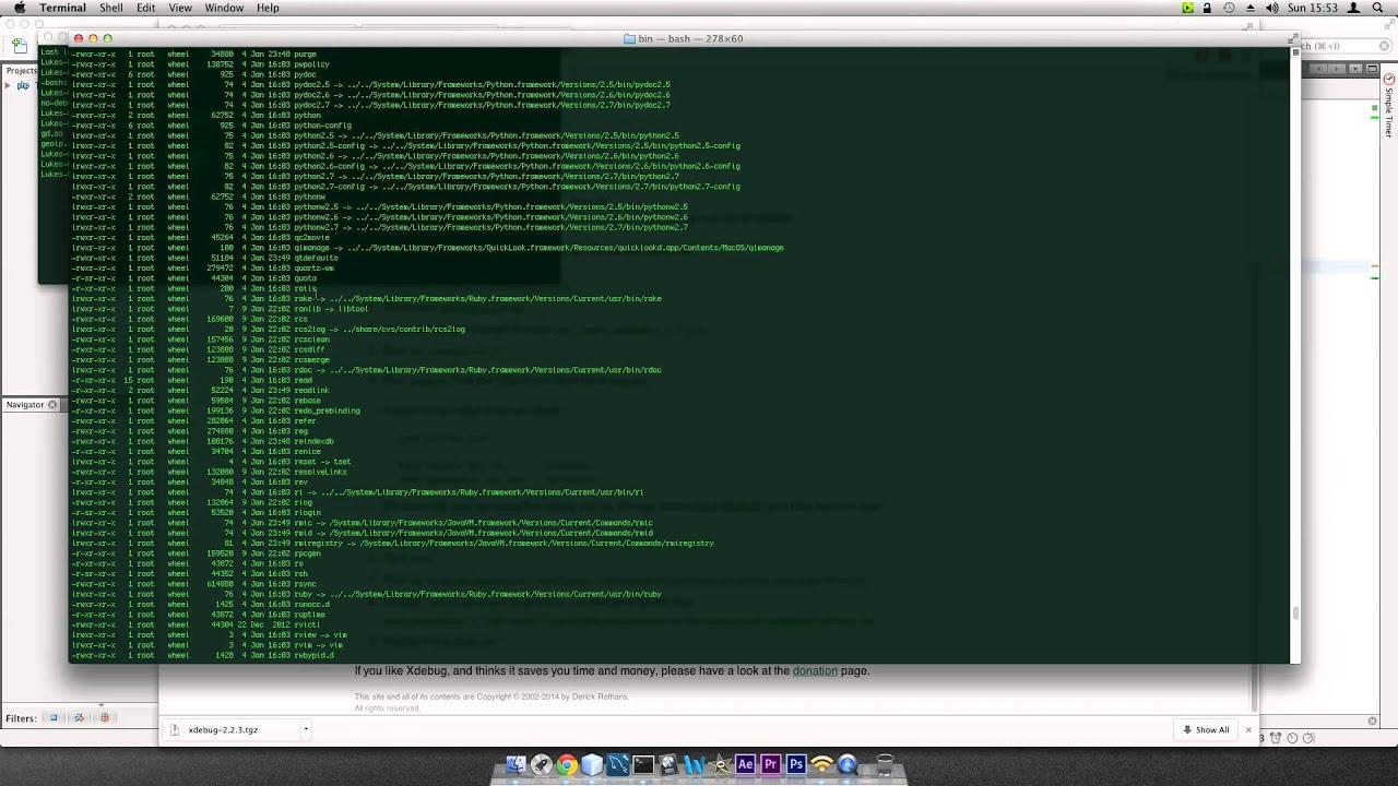 install xdebug mac