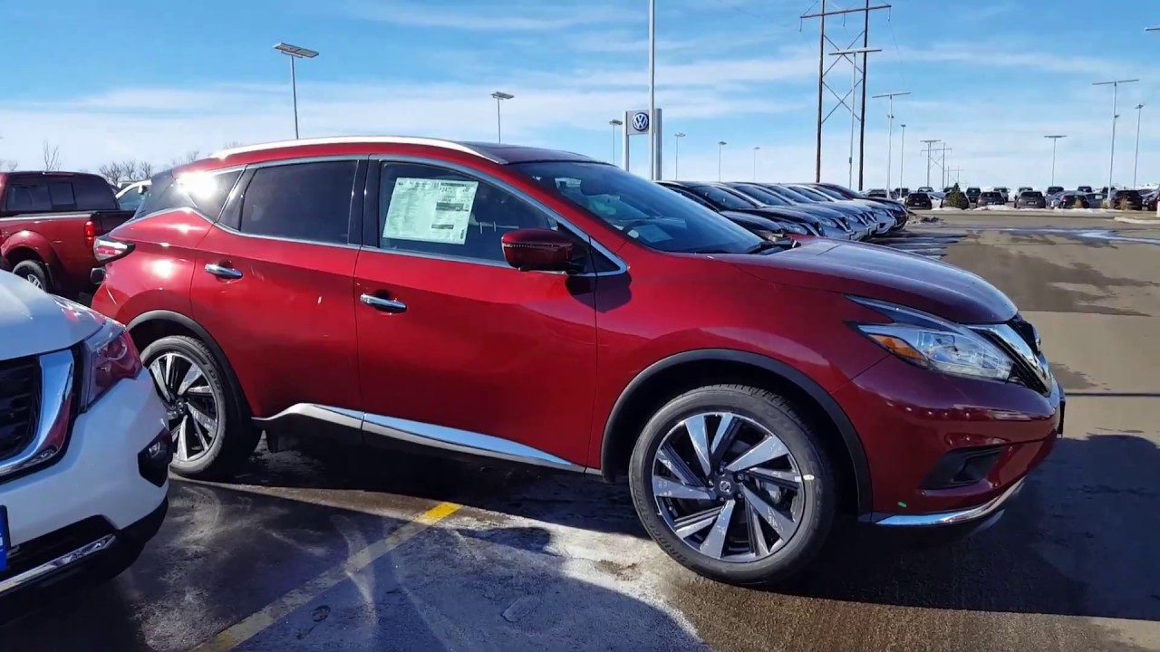 Nissan Murano 2017 Red >> 2017 Nissan Murano Platinum Youtube