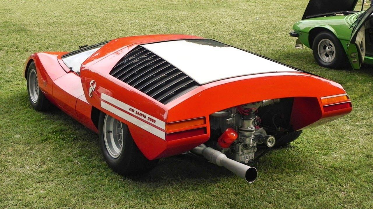 1969 Fiat Abarth 2000 Scorpio Concept Car Amazing Sound