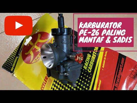 KARBURATOR PE 26 TK RACING,PALING MANTAF - YouTube