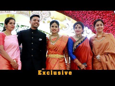 Jyothika Suriya Karthi Sister Brindha At Hotel Savera Nina Reddy Daughter RitikaBheeshma Reception