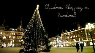 Christmas shopping in Sundsvall in northern Sweden