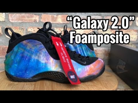 "d90033a9d013f Nike Foamposite One ""Galaxy 2.0"" ""Big Bang"" review - YouTube"