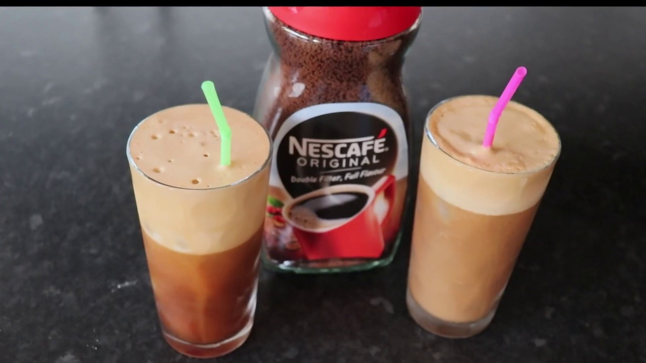 Download How to Make Cold Coffee | Iced Nescafe Frappe | A&A Homemade
