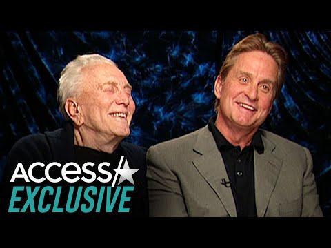 Watch Kirk Douglas & Michael Douglas' Sweet Father-Son Bond In 2003 Interview