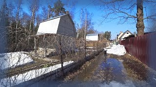 Russia 2018: Spring walk in my dacha community. House for sale…