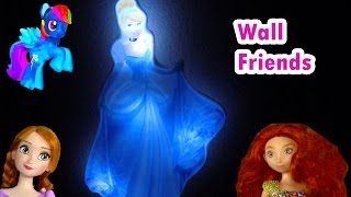 Disney Princess Cinderella Light Up Glowing Glow In The Dark Room Wall Friends Toy Opening Review